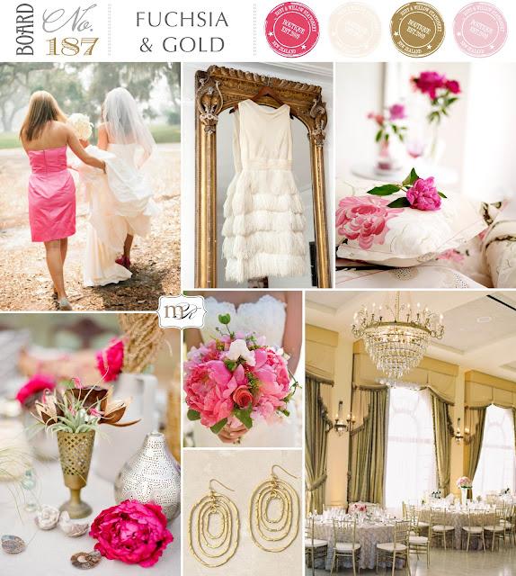 Magnolia Rouge Wedding Inspiration Board No187 Fuschia & Gold