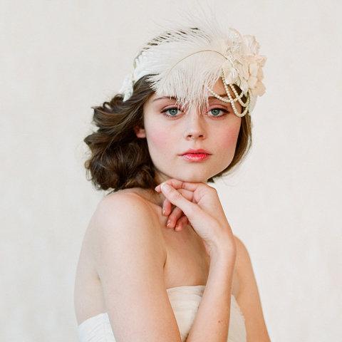 Twigs & Honey Flapper Inspired Bridal Headwear