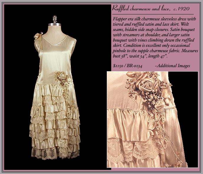 1920s Flapper Bridal Gown