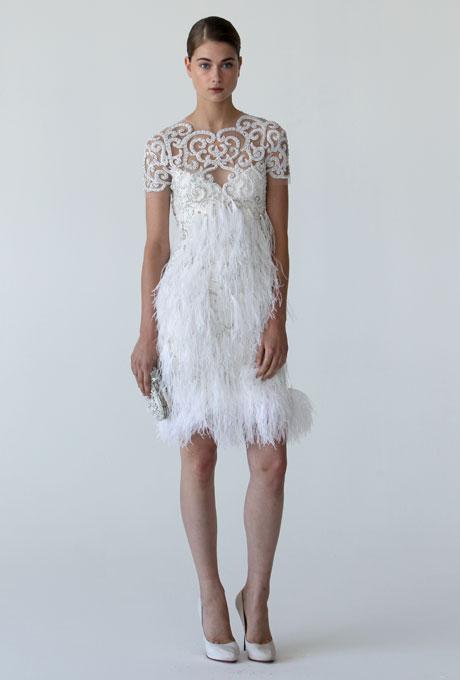 Marchesa Short 1920s Wedding Dress