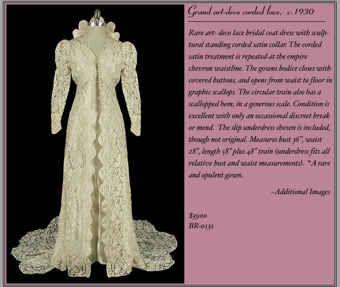 1930s Lace Bridal Gown