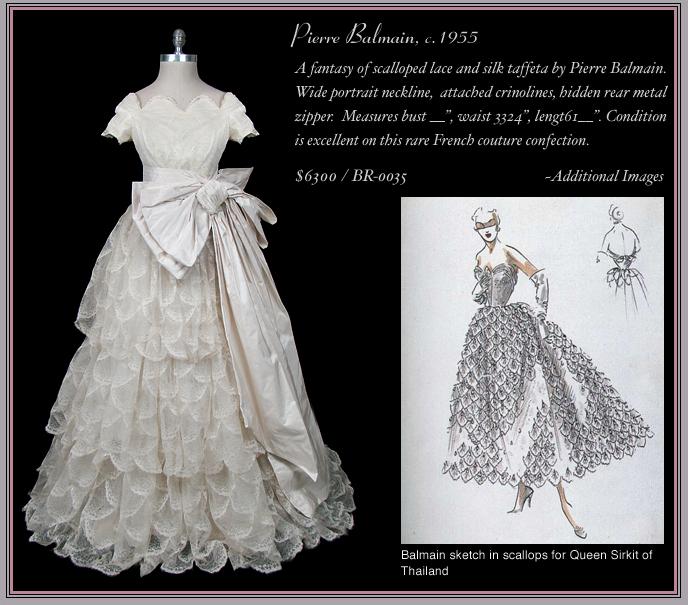 1955 Balmain Bridal Gown