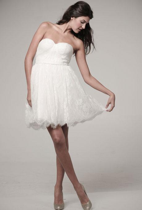 1960s inspired Ivy & Astor Lace Mini Wedding Dress