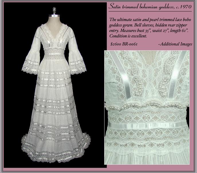 1970s Bohemian Wedding Dress