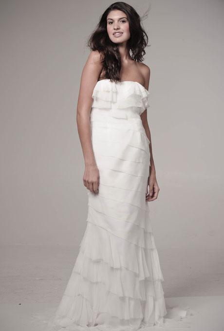 1970s inspired Ivy & Astor Boho Wedding Dress