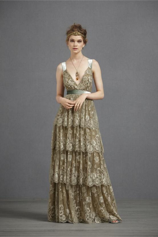 BHLDN Olive Ophelia Dress