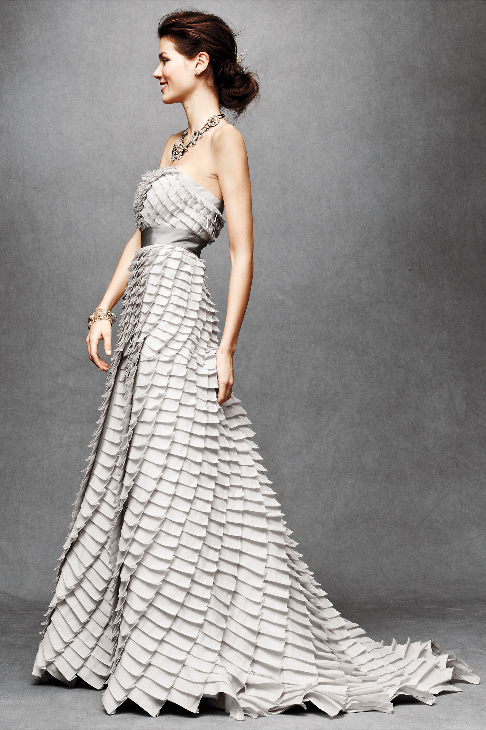 BHLDN Pleated Fantasy Gown