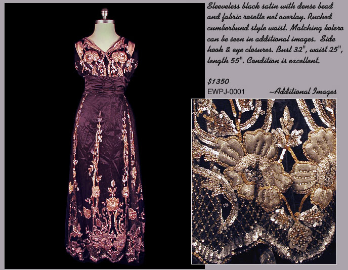 Black Satin Edwardian Dress