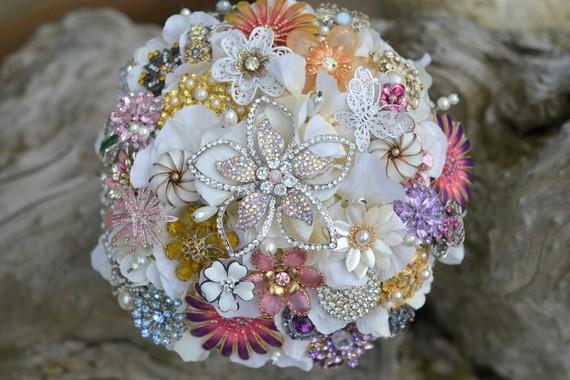 Bright & Beautiful Brooch Bouquet