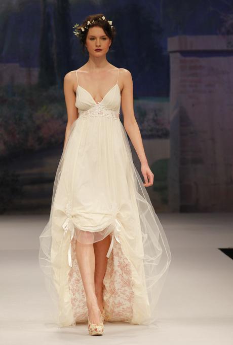 Spaghetti strap bridal gown - CLAIRE PETTIBONE Amelie
