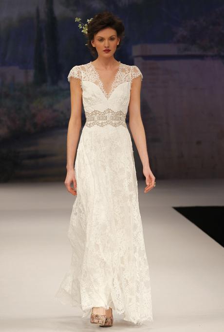 Capped sleeve Bridal Gown - CLAIRE PETTIBONE Brigitte
