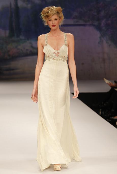 Art Nouveau inspired Bridal Gown - CLAIRE PETTIBONE Jolie
