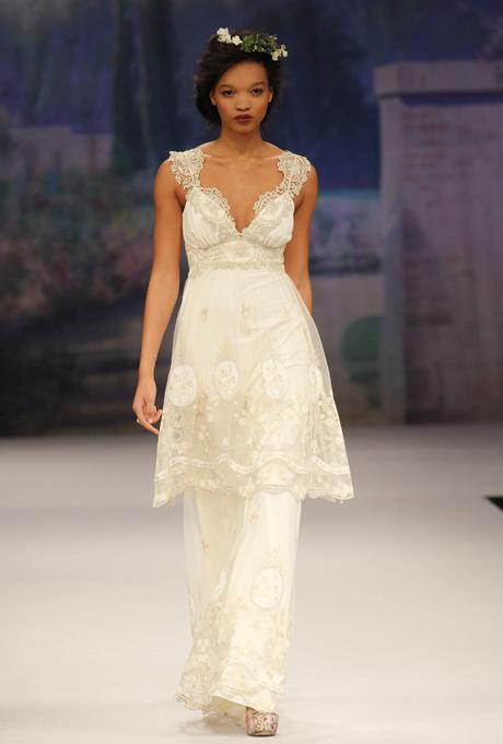 Edwardian inspired Bridal Gown - CLAIRE PETTIBONE Lyon