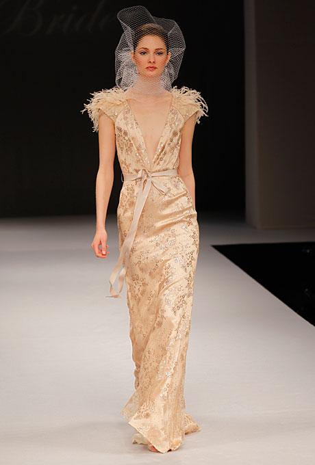 Blush Badgley Mischka Bridal Gown Cascadia