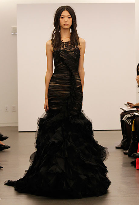 Black Vera Wang Bridal Gown