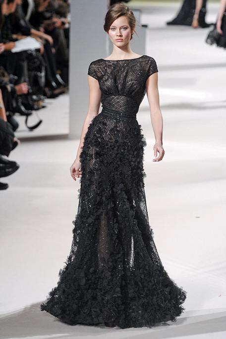 Ellie Saab Spring 2011 Black Bridal Gown