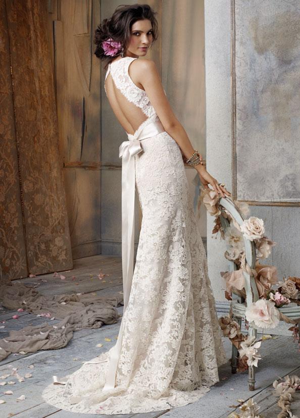 Jim Hjelm 8011 Lace Wedding Dress