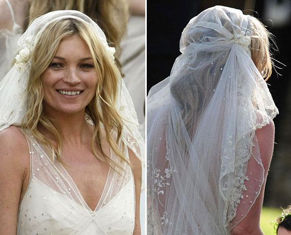 Kate Moss's Juliet Cap Veil