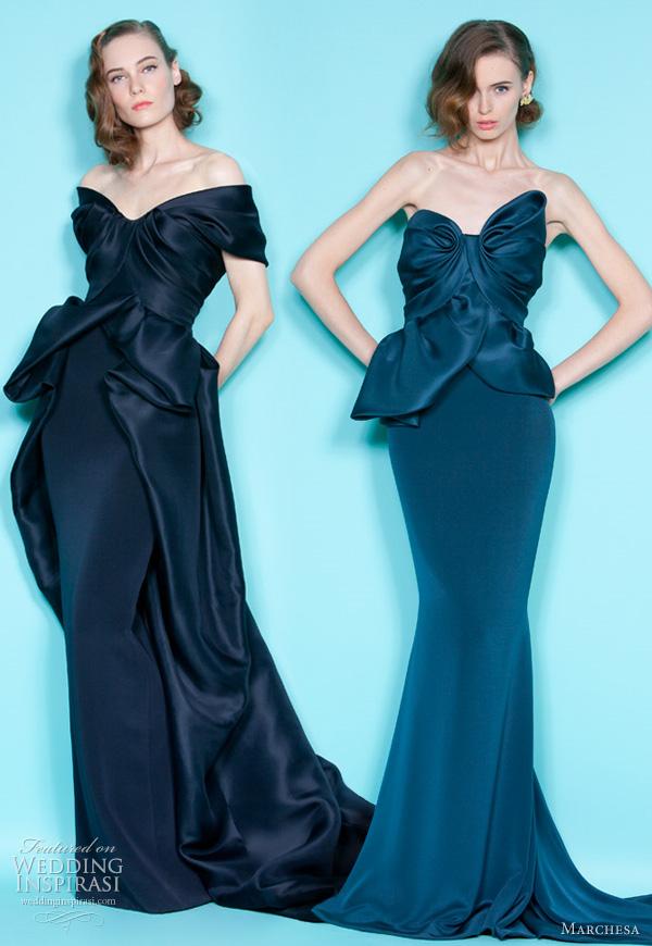 Marchesa wedding dresses in Ink Blue