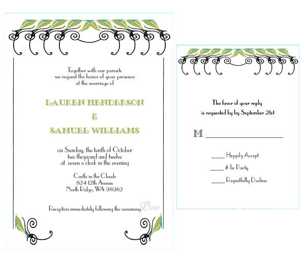 Print Your Own Paris Chic Wedding Stationery