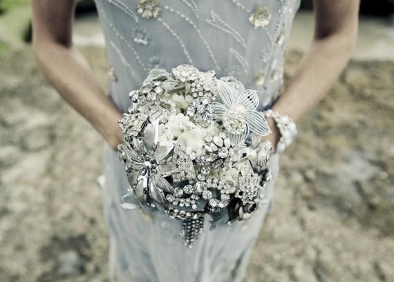 Noaki Silver Brooch Bouquet