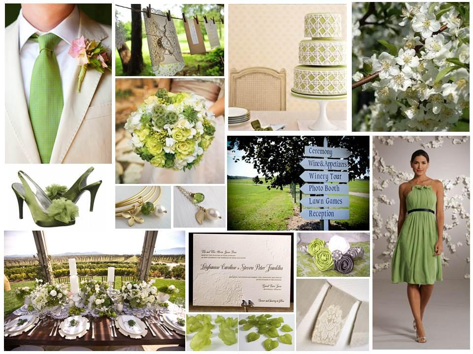 Spring Blossom Wedding Inspiration Board