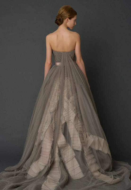 Vera Wang Grey Charcoal Wedding Dress