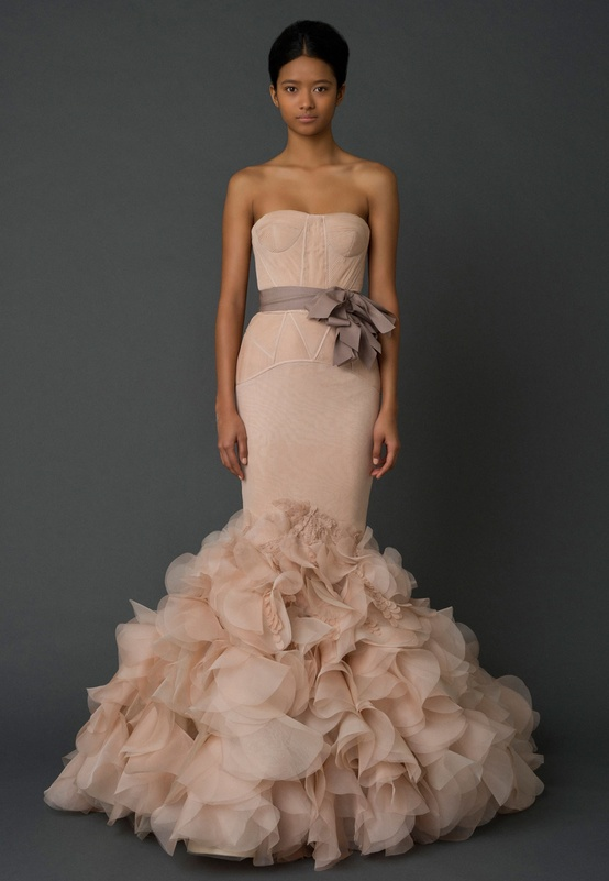 Vera Wang Wedding Dress Spring Summer 2012 Blush