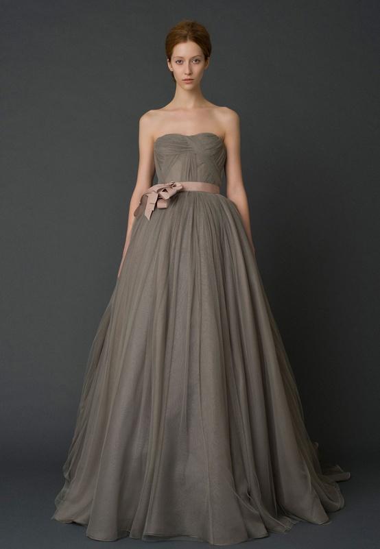 Vera Wang Wedding Dress Grey Charcoal