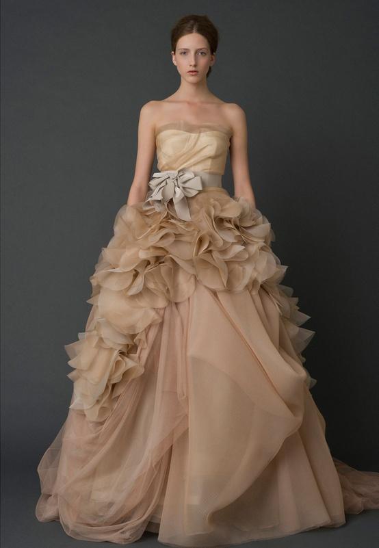 Vera Wang Wedding Dress Spring Summer 2012 Latte