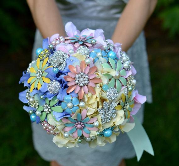 Vintage Gumdrop Brooch Bouquet