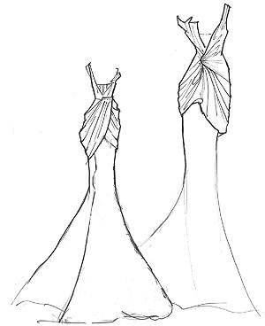 Vera Wang Freya Sketch