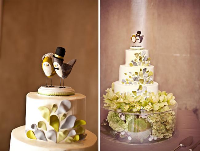 birds wedding cake topper