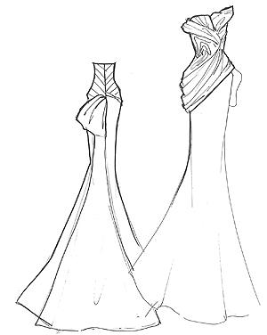 Vera Wang Francesca Sketch