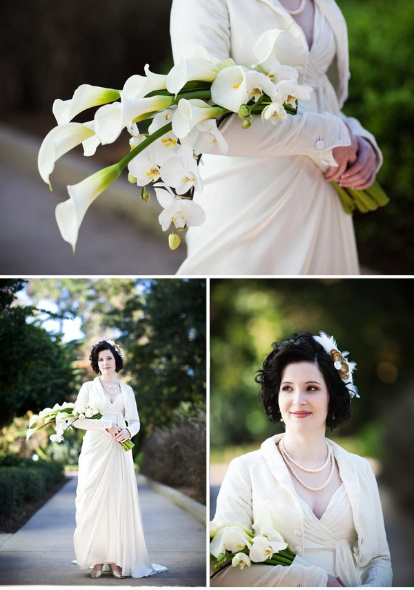Art Deco/Edwardian inspired bride