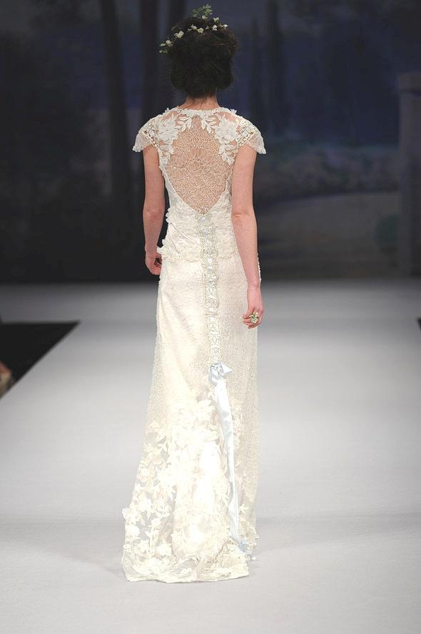 CLAIRE PETTIBONE 2012 Bridal Gown Belle Back Detail