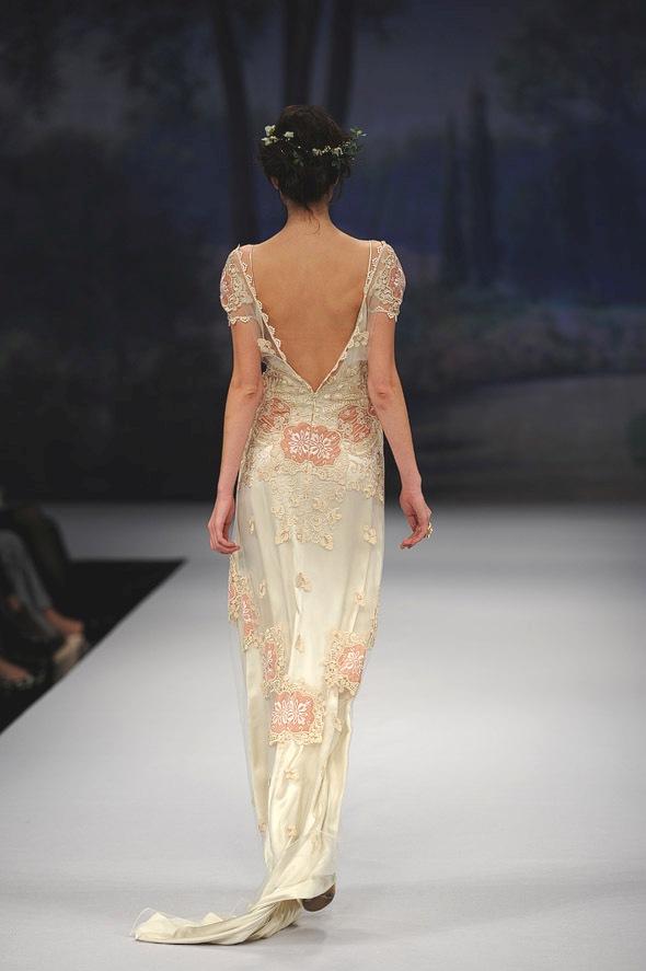 CLAIRE PETTIBONE 2012 Bridal Gown Genevieve Back Detail