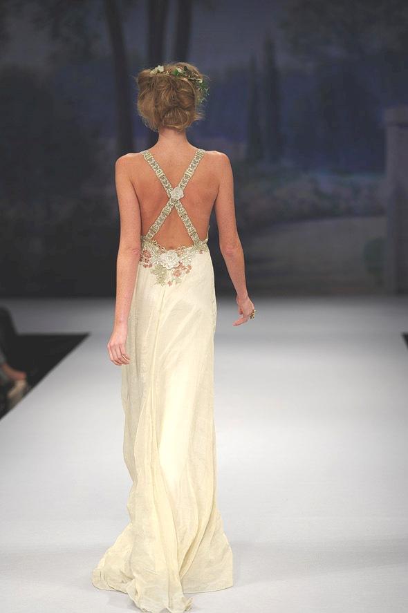 CLAIRE PETTIBONE 2012 Bridal Gown Jolie Back Detail
