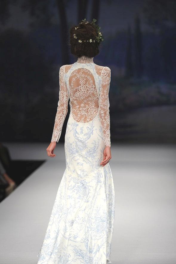 CLAIRE PETTIBONE 2012 Bridal Gown Toile Francais Back Detail