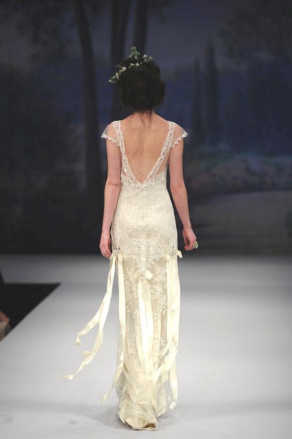 CLAIRE PETTIBONE 2012 Bridal Gown Toulouse Back Detail