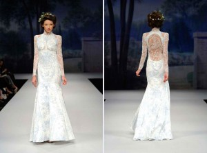 Claire Pettibone S Toile Francais Wedding Dress