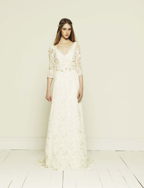 French Lace Wedding Dress Designers Corded Lace Wedding Dress