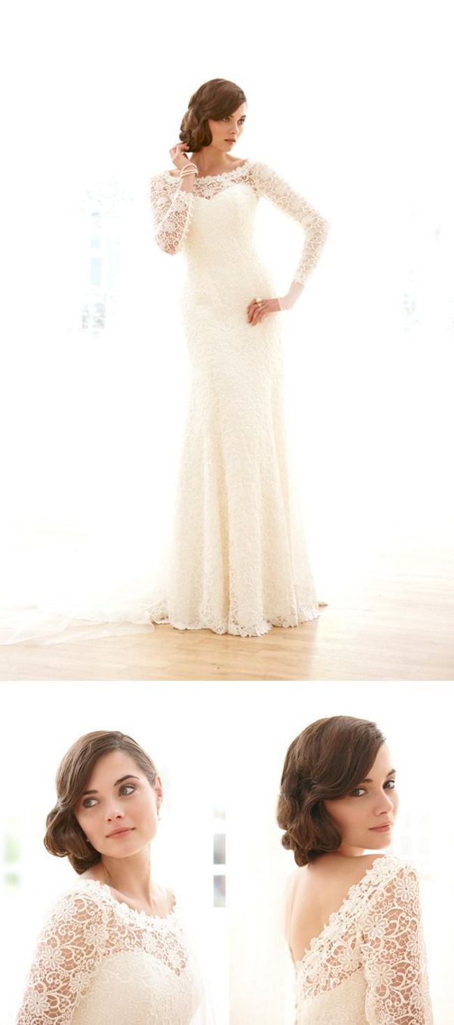 Elizabeth Filmore Long Sleeve Wedding Dress