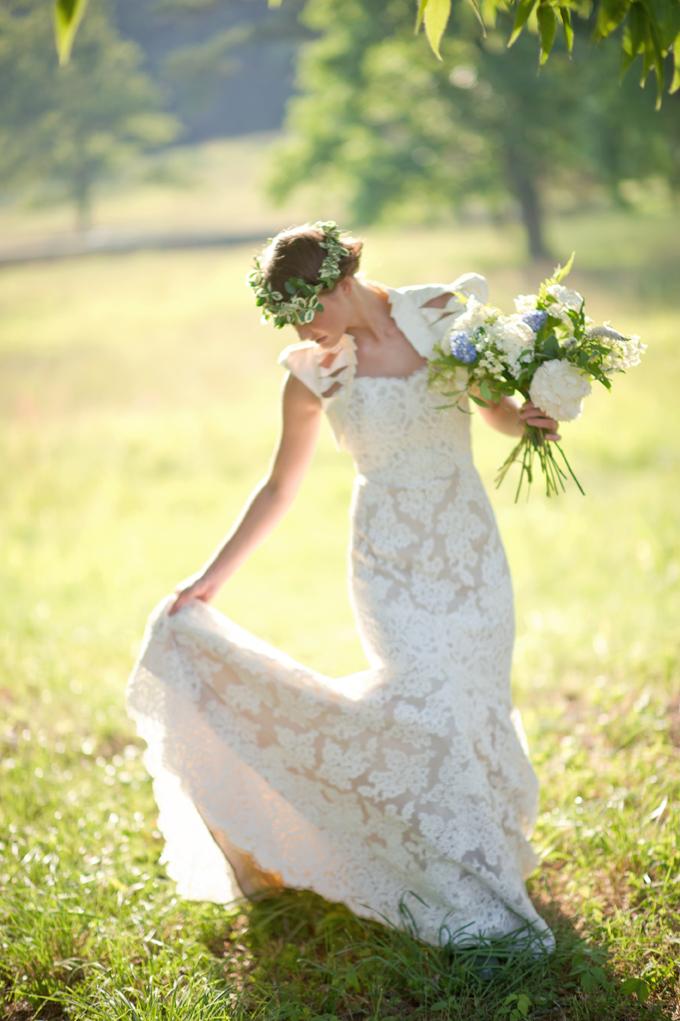 Vintage Bridal Head Wreath