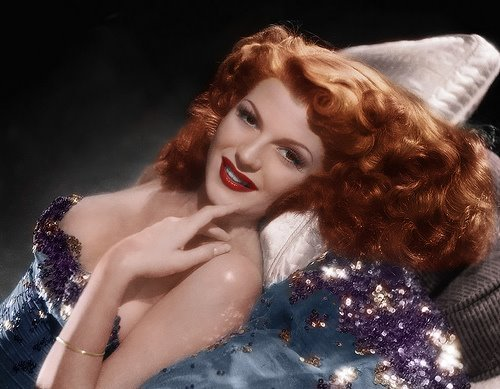 Rita Hayworth Pin Curls