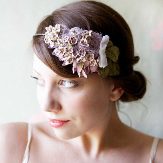 Lavender Vintage Bridal Crown - Which Goose Penelope