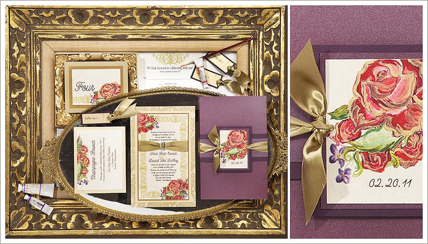 Embellished Floral Wedding Stationery by Momental Designs - Adorned Blooms 3