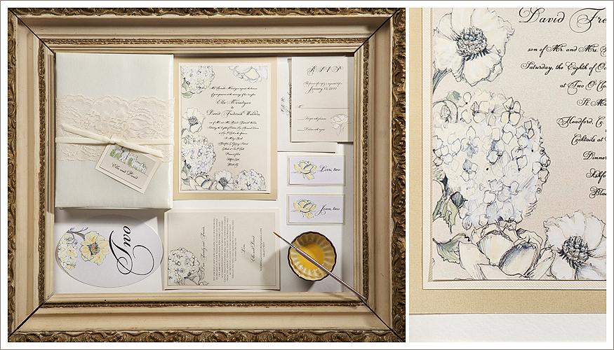 Embellished Floral Wedding Stationery by Momental Designs - Adorned Blooms 5