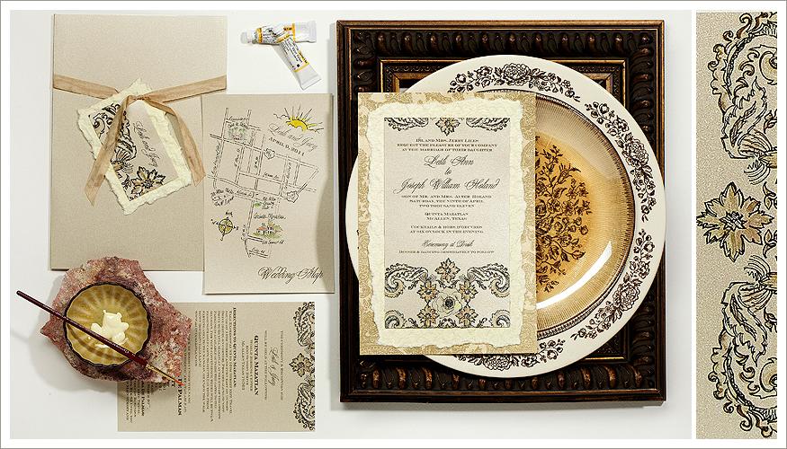 Damask Wedding Stationery by Momental Designs - Brocade & Damask