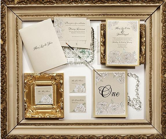 White Rose Wedding Stationery - Momental Designs